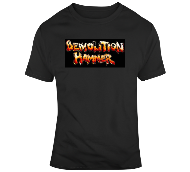 Demolition Hammer 80s Rock Band T Shirt
