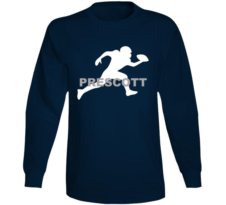 Prescott Dallas Football Player Team Sports Fan Long Sleeve