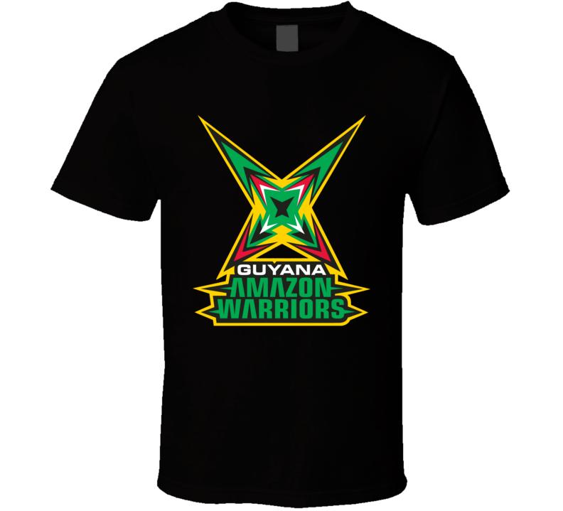 Guyana Amazon Warriors Cricket Team Logo T Shirt