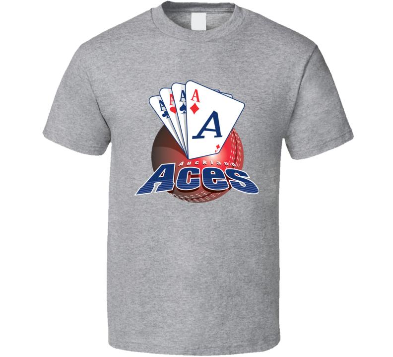 Aucland Aces Cricket Team Logo T Shirt