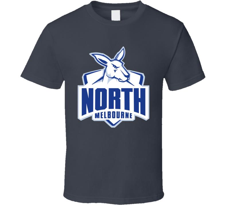 North Melbourne Kangaroos Football Club Team Logo T Shirt