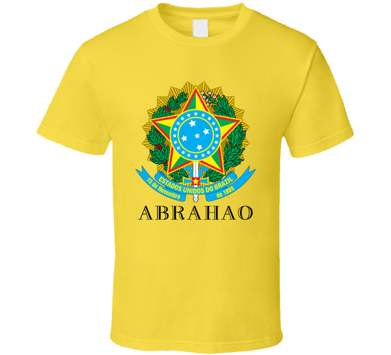 Abrahao Brazil Coat Of Arms Family Surname T Shirt