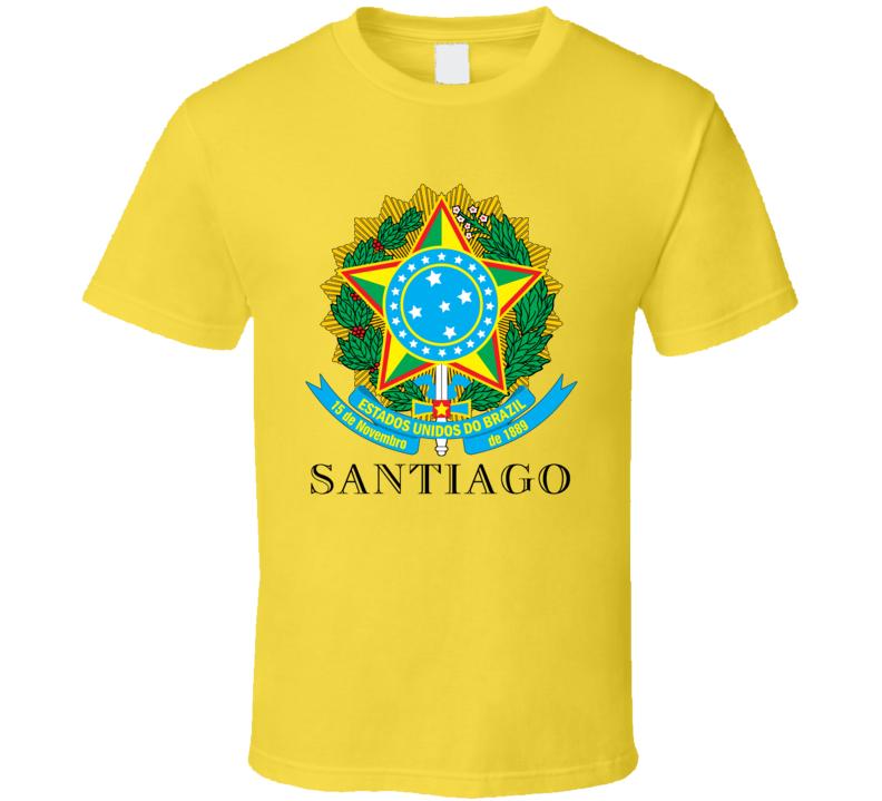 Santiago Brazil Coat Of Arms Family Surname T Shirt