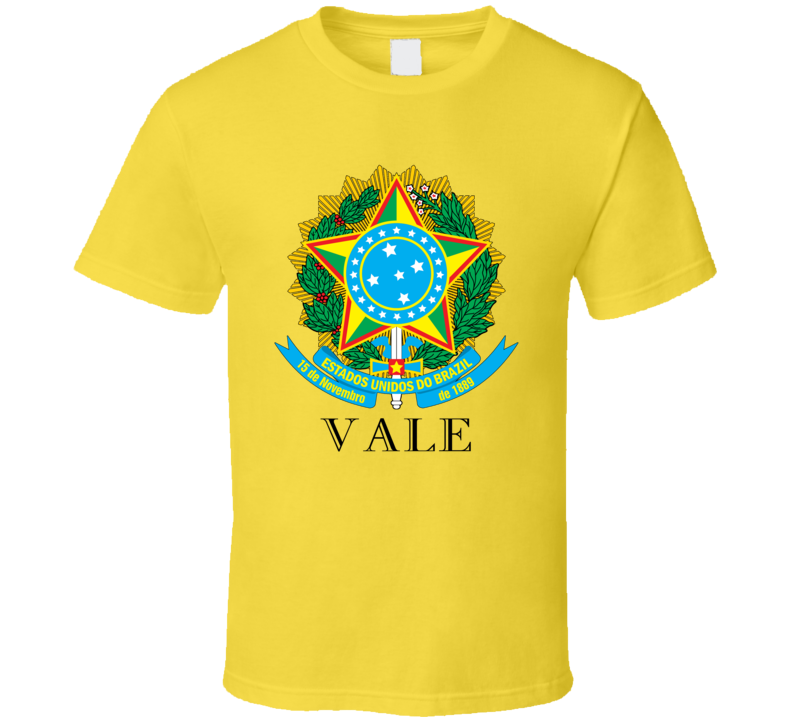Vale Brazil Coat Of Arms Family Surname T Shirt