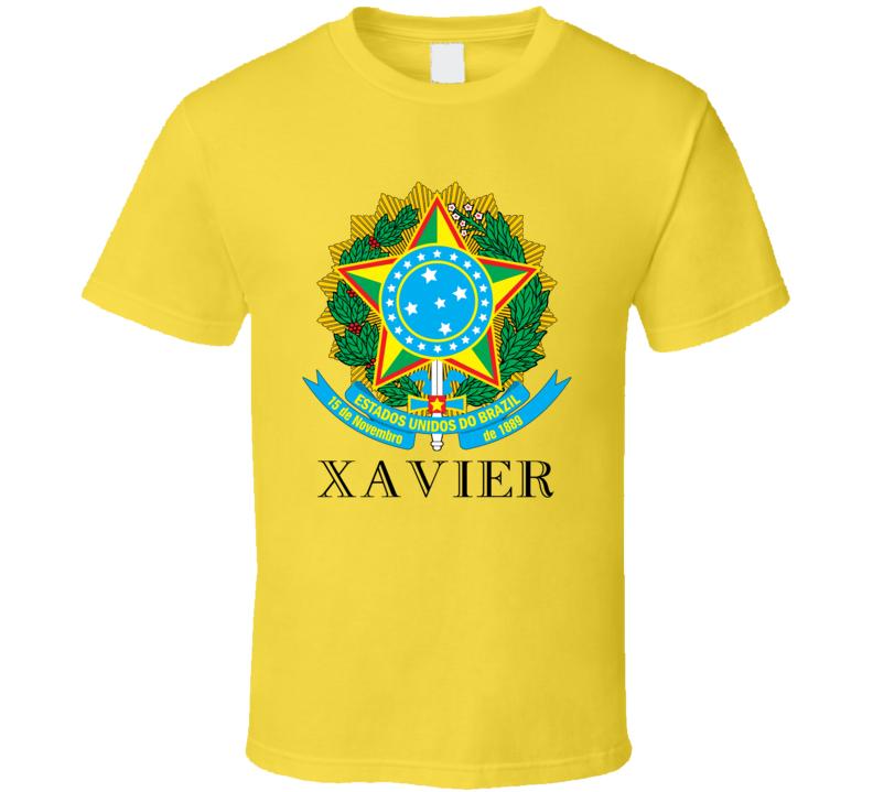 Xavier Brazil Coat Of Arms Family Surname T Shirt