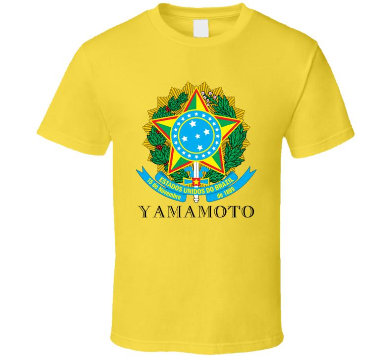 Yamamoto Brazil Coat Of Arms Family Surname T Shirt