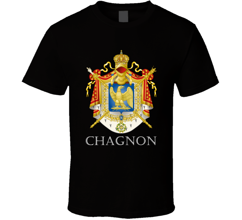 Chagnon French Last Name Custom Surname France Coat Of Arms T Shirt