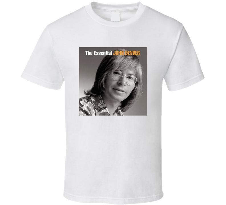 The Essential John Denver Top Country Album Music Lovers T Shirt