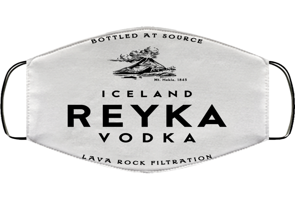 Reyka Vodka Iceland Glacier Drink Alcohol Face Mask Cover