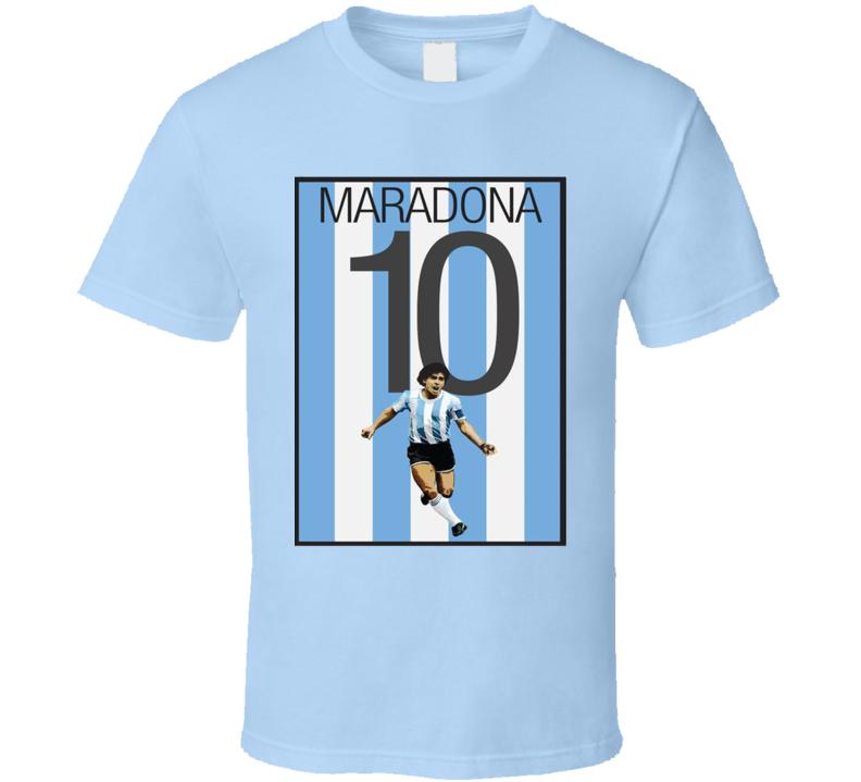 Soccer Legend Diego Maradona Argentina Fan T Shirt