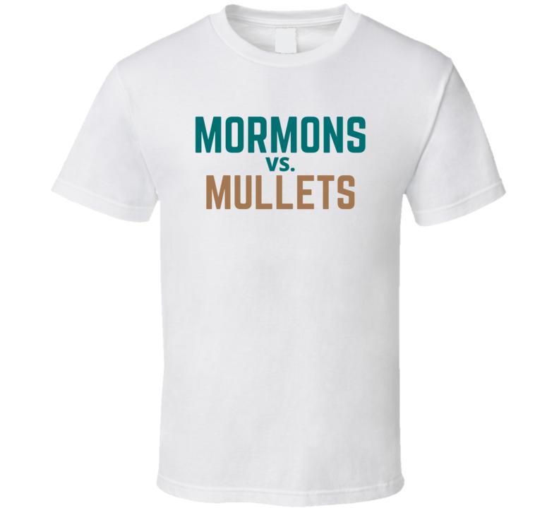 Mormons Vs Mullets Coastal Carolina Vs Byu Football T Shirt