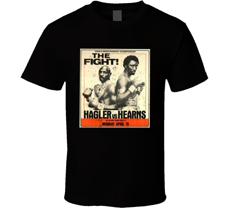 Marvin Hagler Vs Thomas Hearns The Fight Vintange Look Fight Poster Boxing Fan T T Shirt
