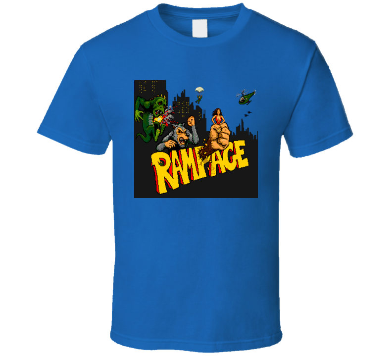 Rampage Retro 80s Video Game T Shirt