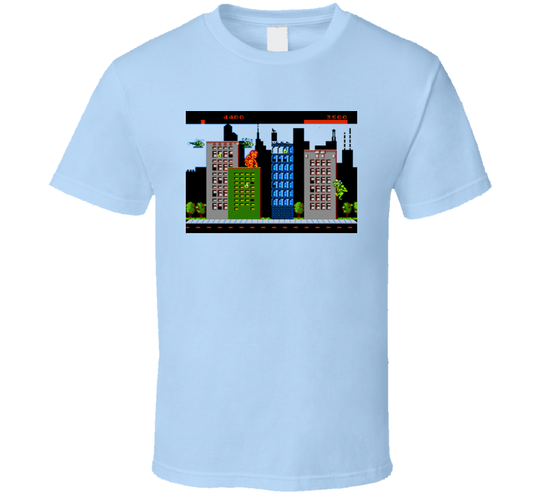 Rampage Retro 80s Video Game Screen T Shirt