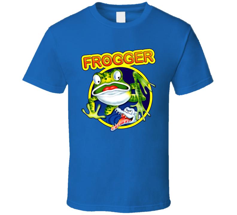 Frogger Retro 80s Video Game T Shirt