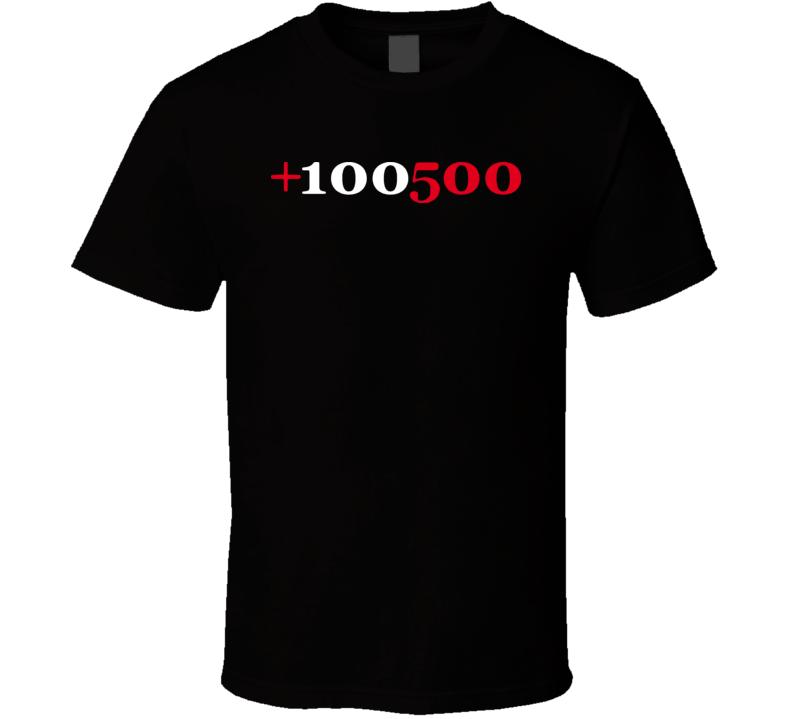 +100500 100 500 Youtube Viral Video T Shirt