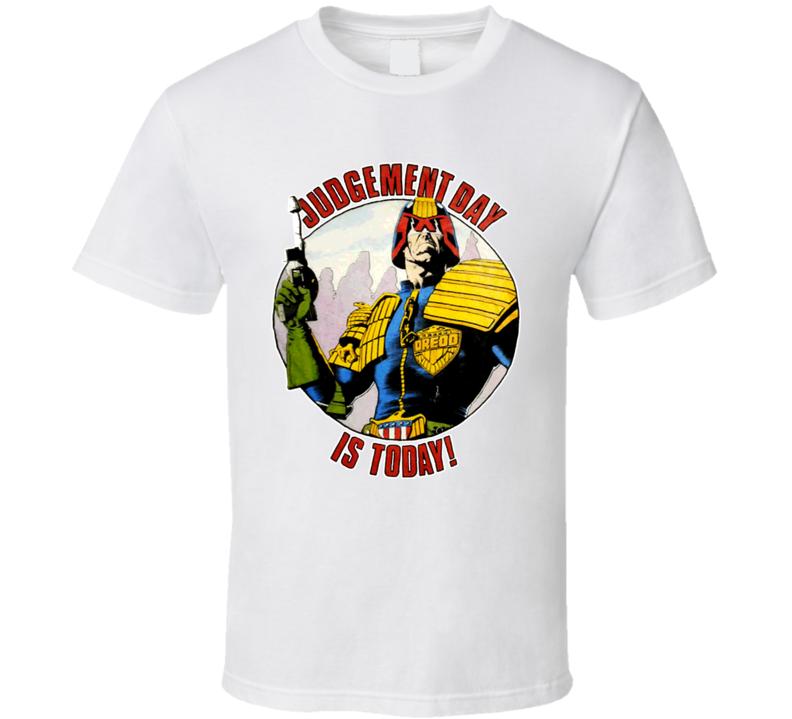 Judge Dredd Judgement Day Retro Comic T Shirt