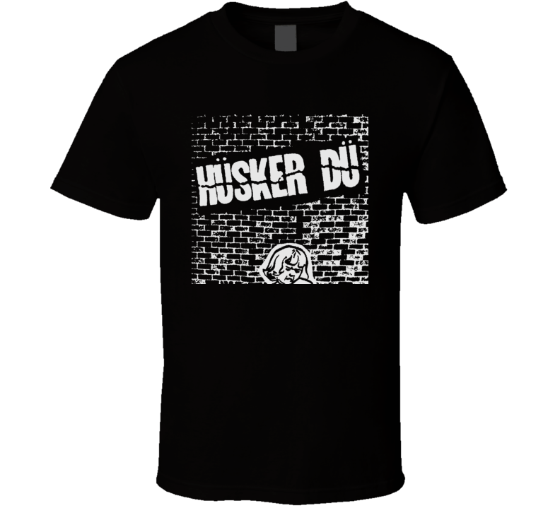 Retro Punk Rock Band Husker Du Music T Shirt