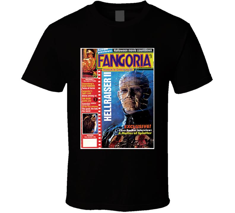 Hellraiser Pinhead Horror Fangoria Retro T Shirt