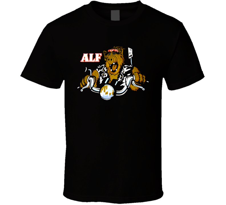 Alf Tv Show Deadstock Nos Retro 80s 90s Cool Funny Motorcycle. Shirt