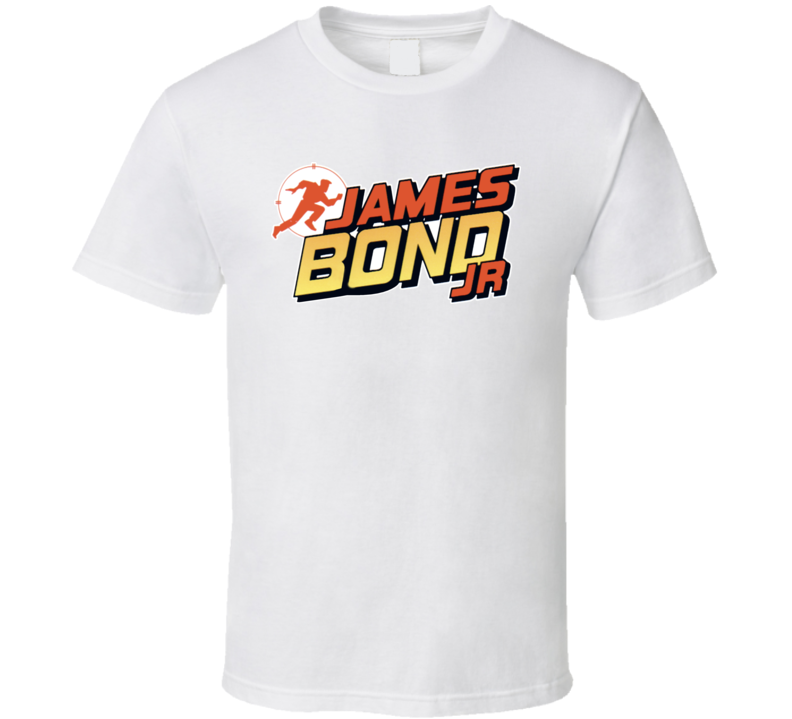 James Bond Jr Retro Cartoon British Spy Agent 007 T Shirt