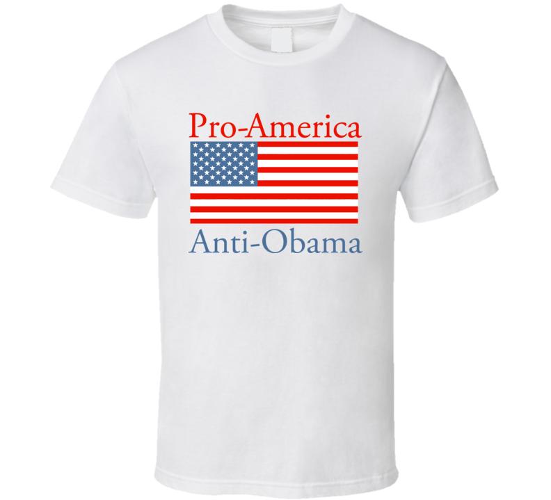 Anti Barack Obama Political Pro American USA America Mitt T Shirt