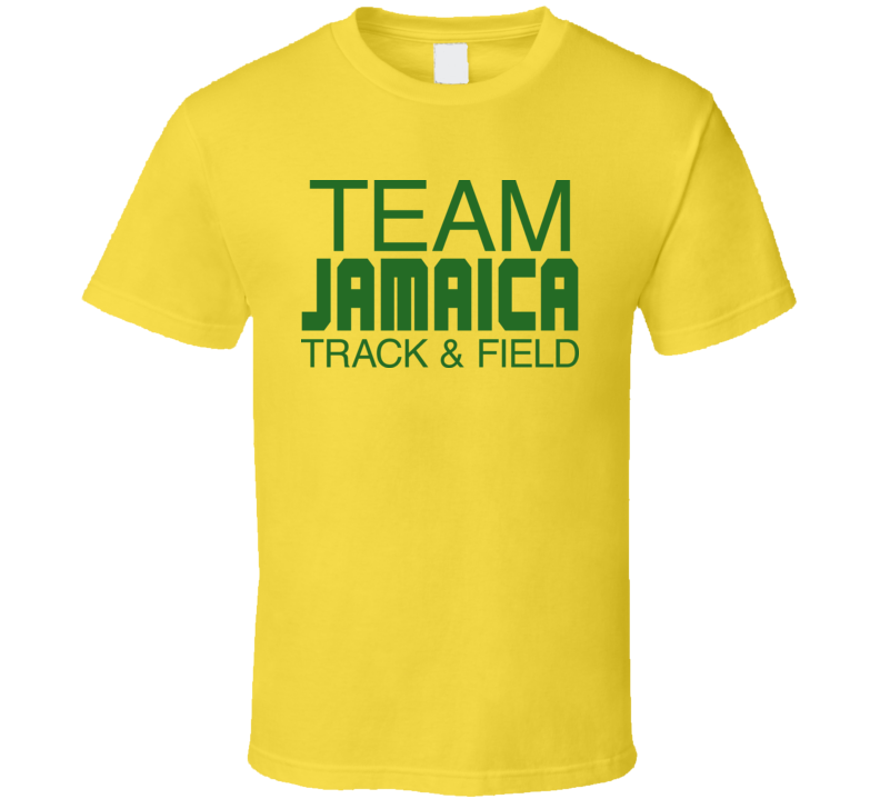 Jamaican Track And Field Bolt Gold 100 200 Meters T Shirt
