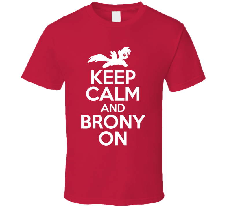 Keep Calm And My Little Brony On Funny Retro Cartoon Pony T Shirt
