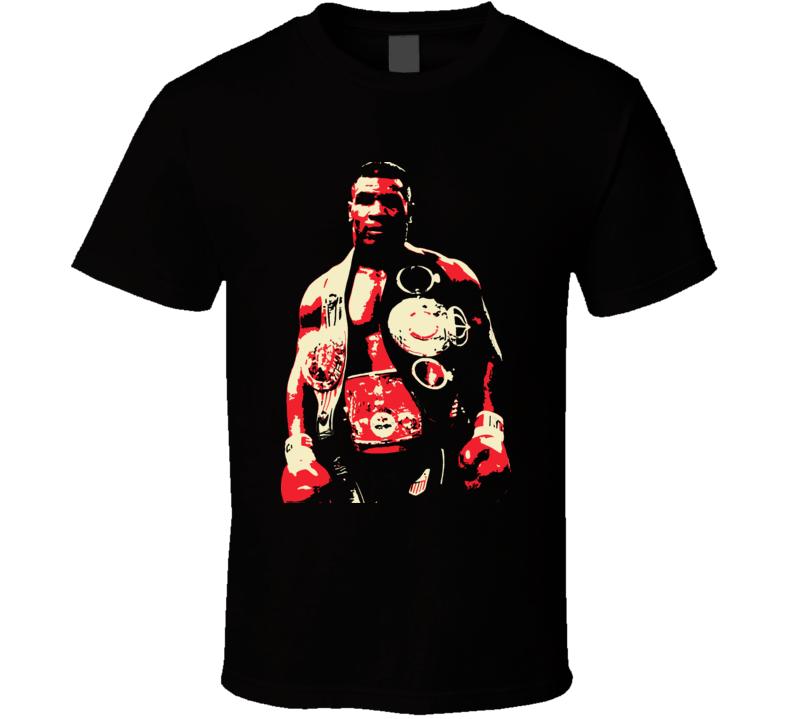 Mike Tyson World Heavyweight Champion Champ Ko Belts Boxing T Shirt