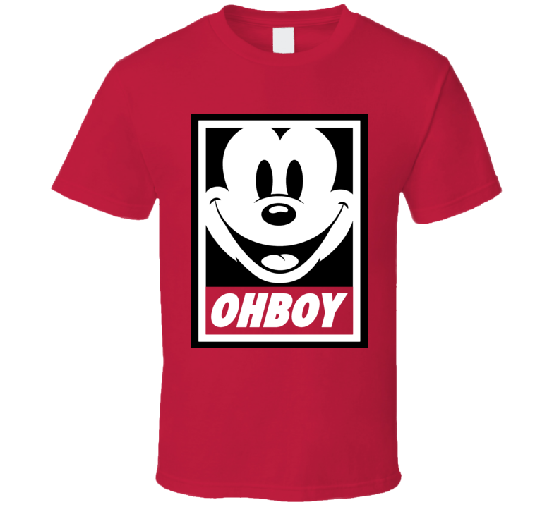 Oh Boy Obey Abide Parody Micky Funny Retro Cool T Shirt