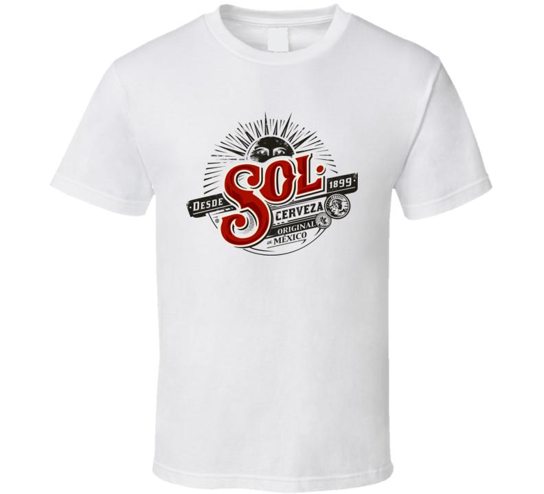 cerveza sol logo t-shirt