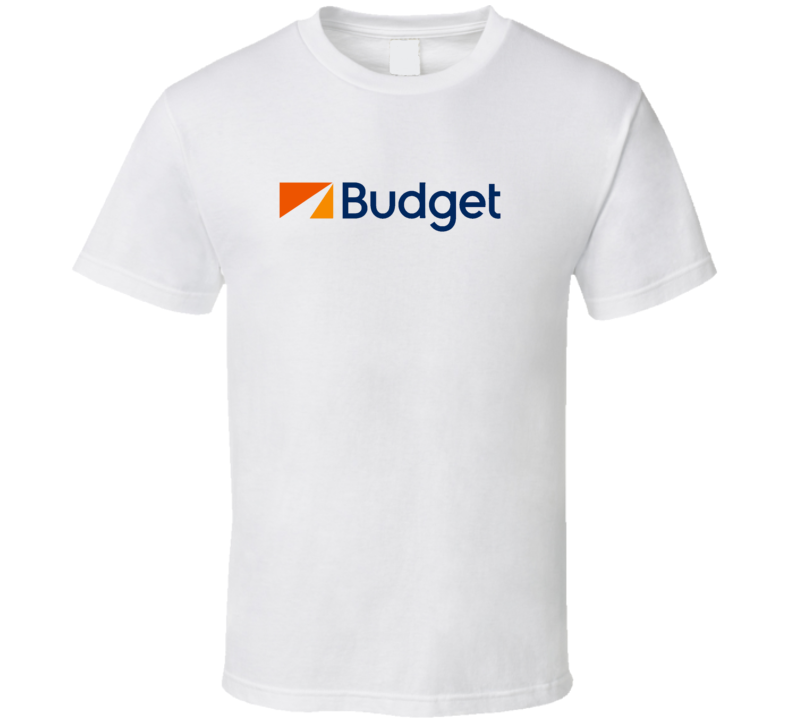 Budget car rental logo t-shirt