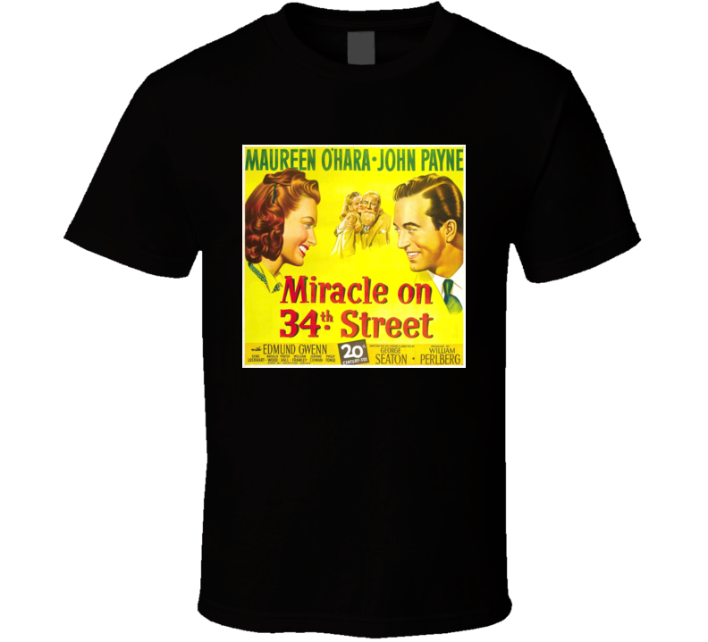 Miracle on 34th street movie t-shirt