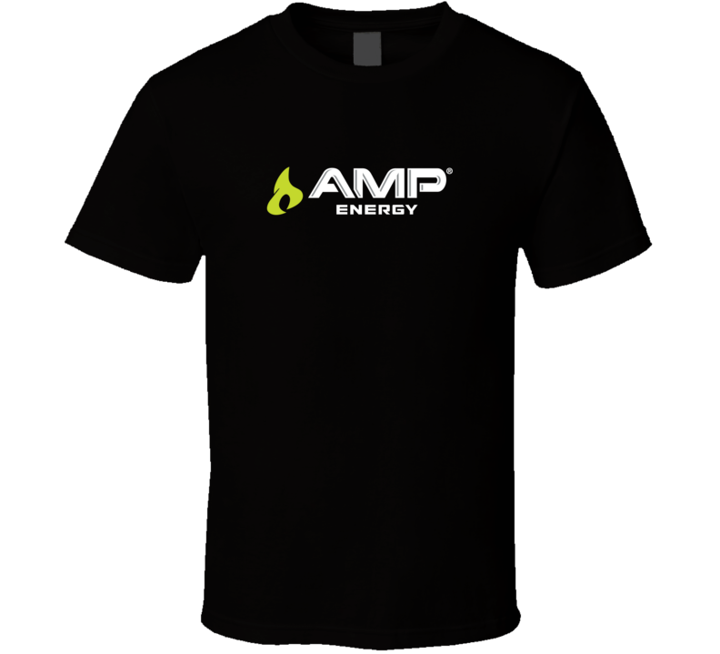 AMP Energy drink logo shirt t-shirt tee