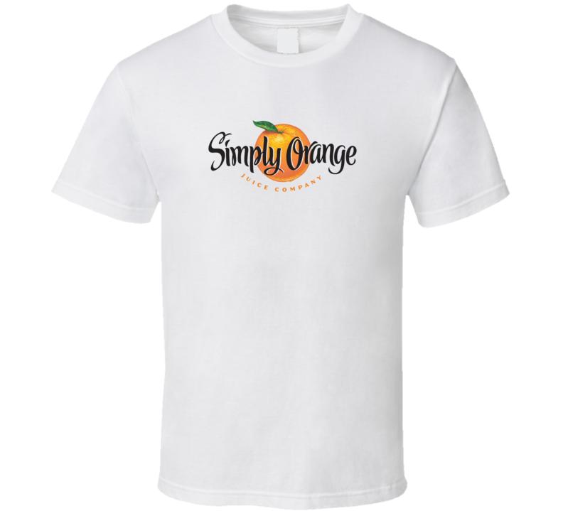 Simple Orange Juice drink logo t-shirt shirt tee