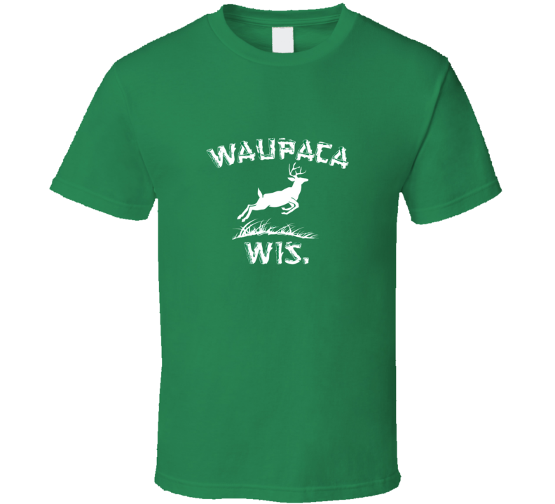 Waupaca Wis Dustin Stranger Things Netflix Movie T-Shirt Green Colour Size S-XL