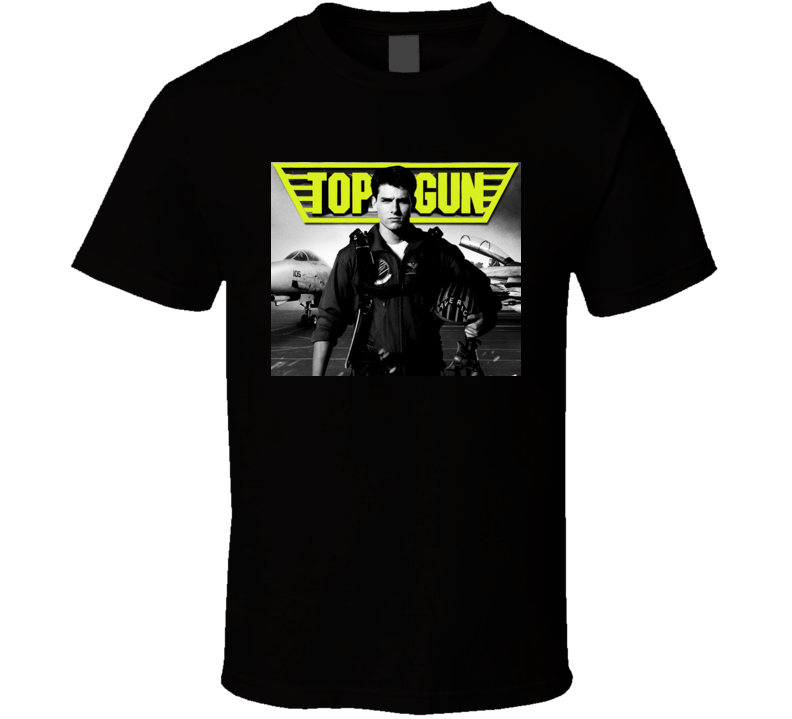 Tom Cruise Top Gun t-shirt Because I was inverted with logo Cool retro movie t-shirts