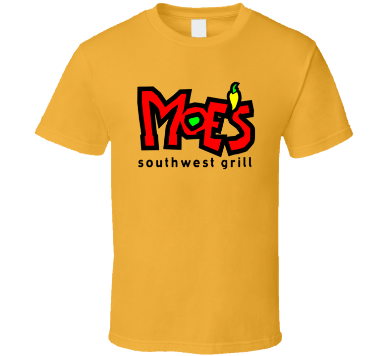 Moe's Southwest Grill Fast Food Restaurant Logo T Shirt