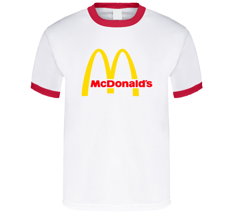 McDonalds Fast Food Golden Arches Symbol Logo T Shirt