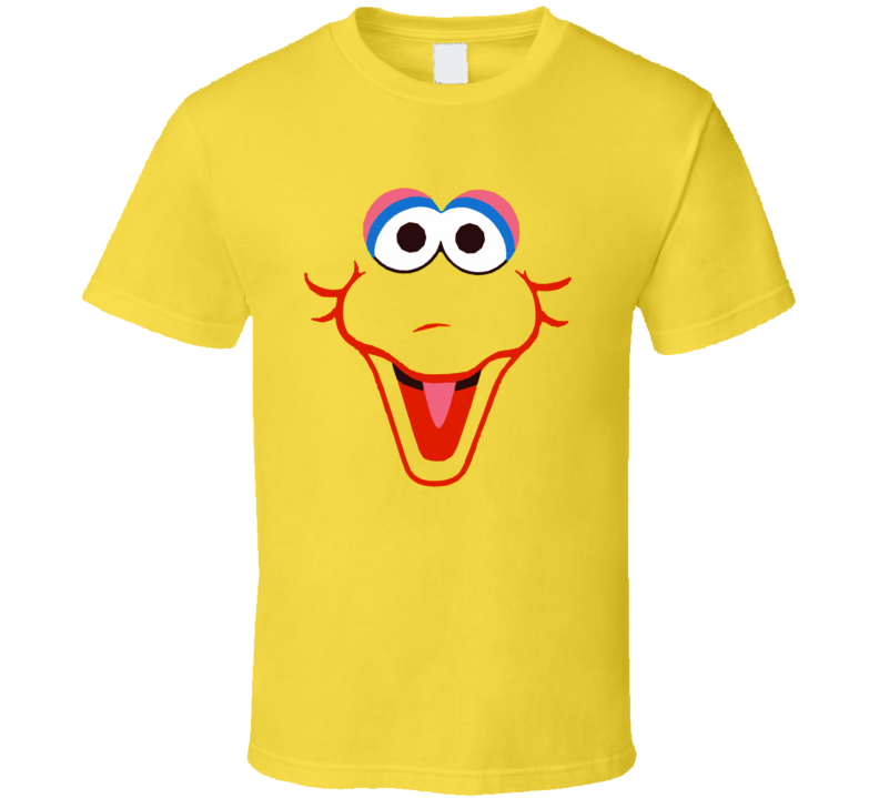 Big Bird Sesame Street Face Cool T Shirt