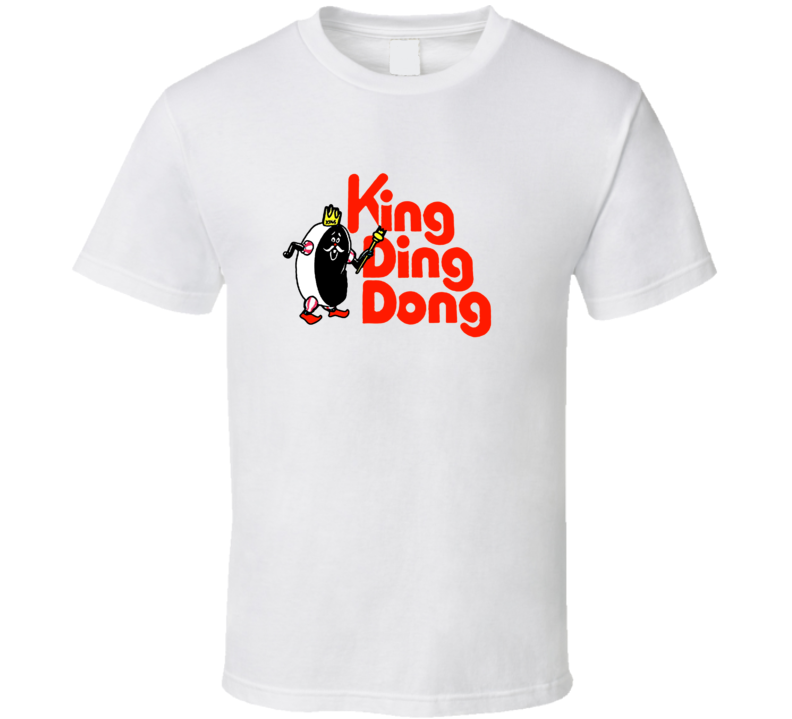 King Ding Dong Retro Cake Logo T Shirt