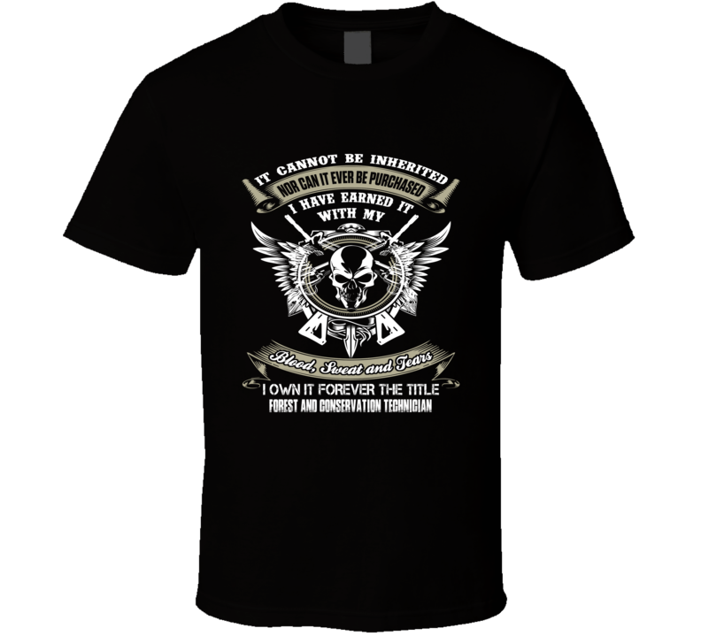 Forest and Conservation Technician t shirt ninja job title t-shirt