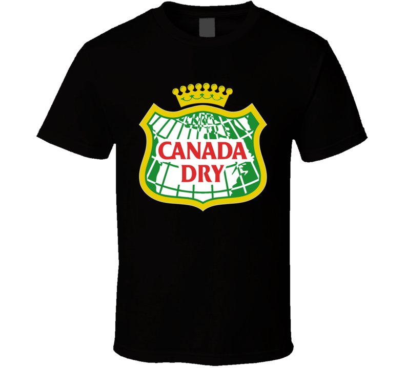 Canada Dry Gingerale soft Drink Pop  All Sizes Whote T shirt