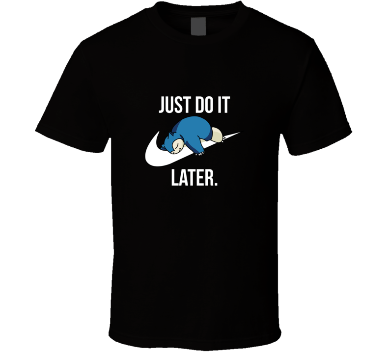 Pokemon Nike Do It Snorlax Funny Tee T shirt