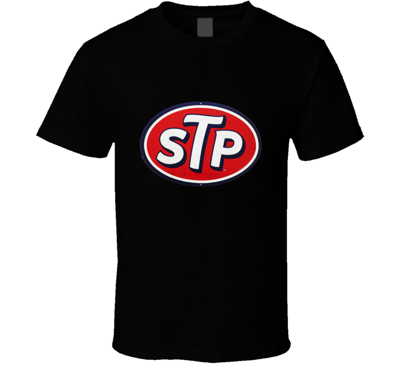 STP Motor Oil distressed look Logo T shirt