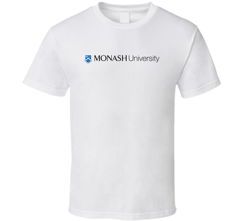 monash university logo t shirt tee