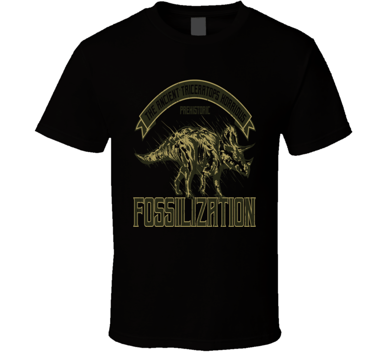 Triceratops Fossil New T-shirt