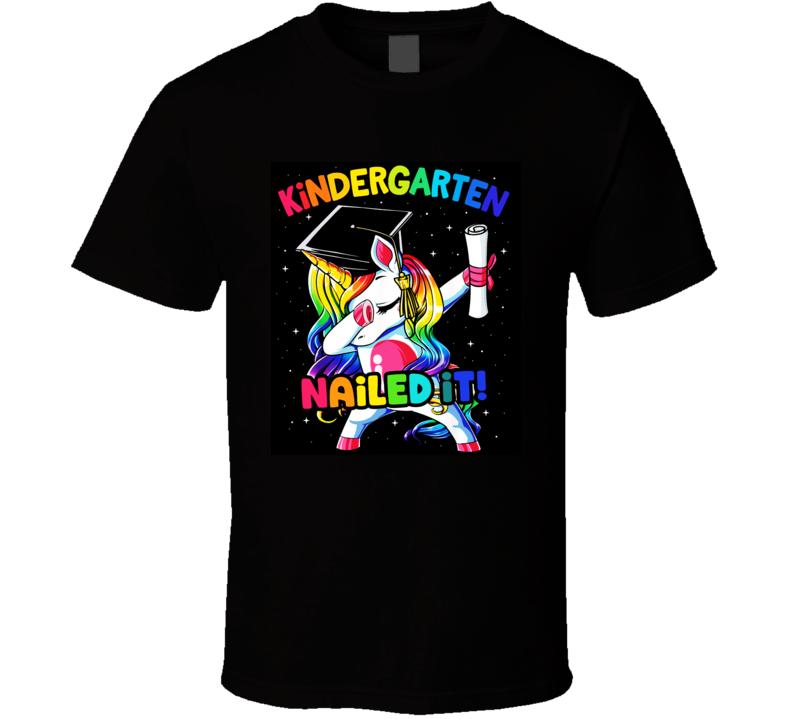Kindergarten Graduation Dab Unicorn T Shirt