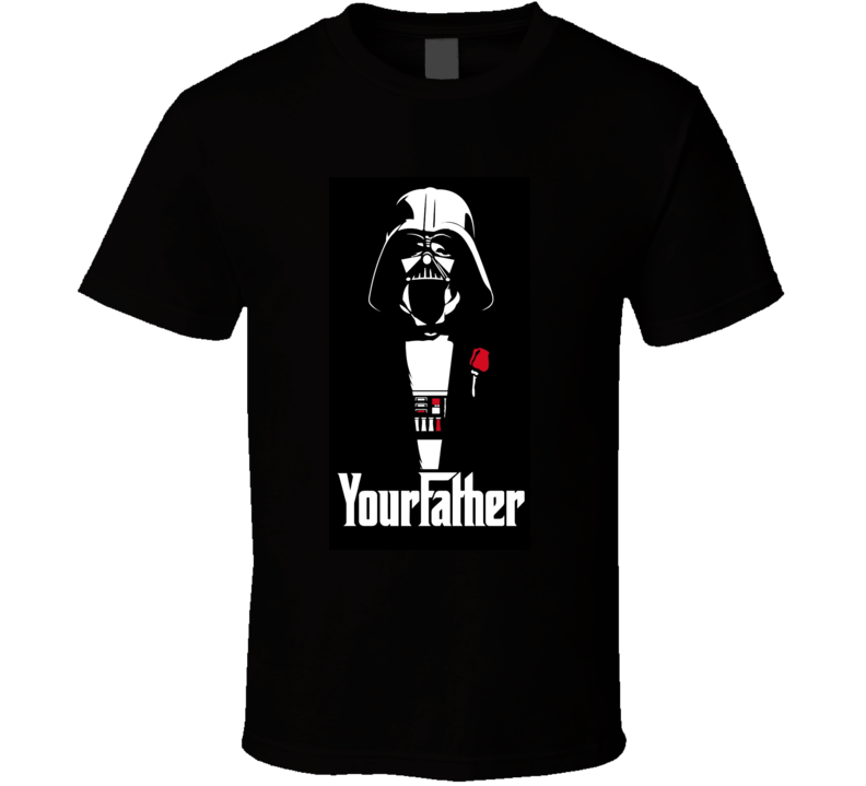 Star Wars I Am Your Father Cool Lightsaber Darth Vader Luke T Shirt