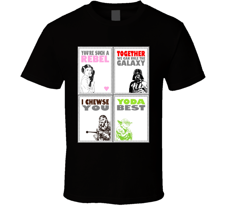 Princess Leia Star Wars Valentine Day 2 T Shirt